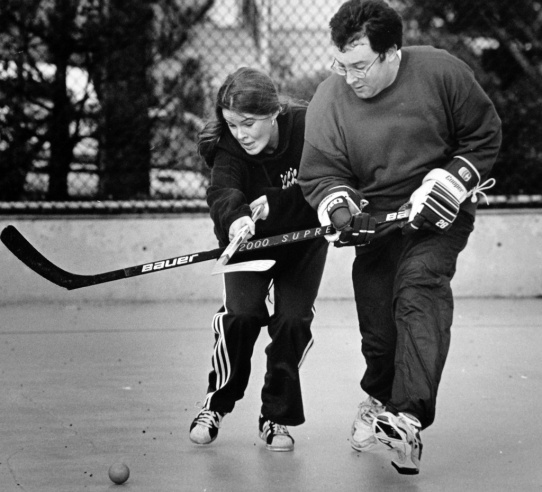 Women have never been excluded from Sunday Morning Road Hockey.