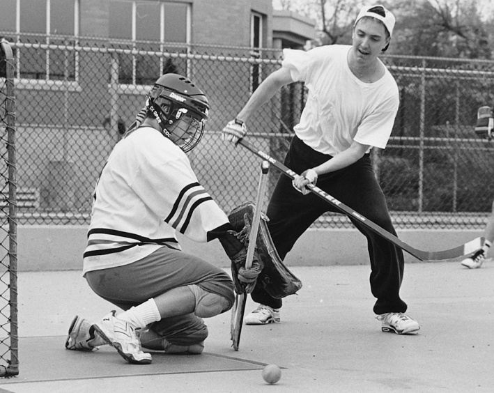 Legendary goaltending stalwart Wawrow relied on his wile and reflexes to protect him from injury while playing net with minimal equipment.