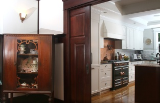 Photo by Mario Bartel The kitchen was completely rebuilt and modernized with an open plan.