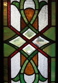 Photo by Mario Bartel A detail from one of 17 original stained glass windows.