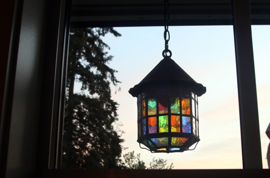 Photo by Mario Bartel Copper coach lamps around the home's exterior are also original.