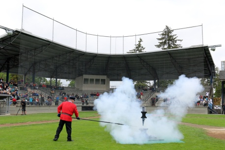 The anvil salute to the Queen on Victoria Day is also the launch of New Westminster's annual week-long Hyack Festival.
