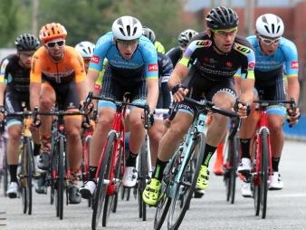 MARIO BARTEL PHOTO The men's peloton prepares to turn onto Shaughnessy Street.