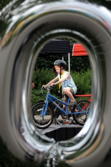 MARIO BARTEL PHOTO The PoCo Grand Prix kids zone provides future racers a chance to hone their skills.