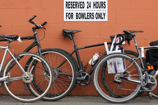 MARIO BARTEL PHOTO The bowlers seem to have lost their exclusive parking privileges during Friday's PoCo Grand Prix.