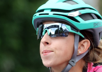 MARIO BARTEL PHOTO A racer reflects on the start of the women's race at Friday's PoCo Grand Prix.
