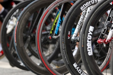 MARIO BARTEL PHOTO Wheels are lined up for the start of the women's race at Friday's PoCo Grand Prix.