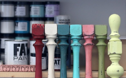 PHOTO BY MARIO BARTEL The FAT Paint Company's palette is now comprised of more than 40 colours.