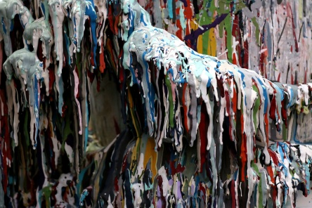 PHOTO BY MARIO BARTEL Drips of paint on a mixing can become an abstract work of art.