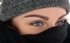 Cierra, of A Bread Affair, is bundled up to her eyeballs.