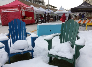 Snow, ice and sub-zero temperatures help put the winter into the Royal City Winter Farmer's Market on Saturday.