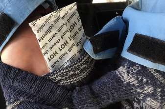 Chemical warming packets are the key to staying warm at Saturday's Winter Farmers Market say many of the vendors.