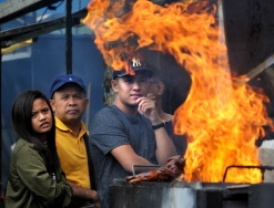 Combining lunch and a photo op is pretty much a journalist's dream. And seeing as one of the aspects of Port Moody's Ribfest is waiting in line, my challenge was making that queueing look interesting.