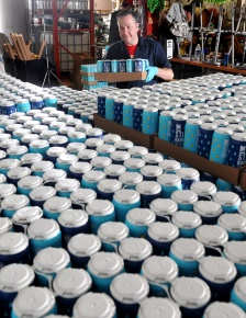 MARIO BARTEL/THE TRI-CITY NEWS Pallets of Moody Ales' new collaboration beers, created in collaboration with West Coast Canning, are loaded onto pallets for shipment.