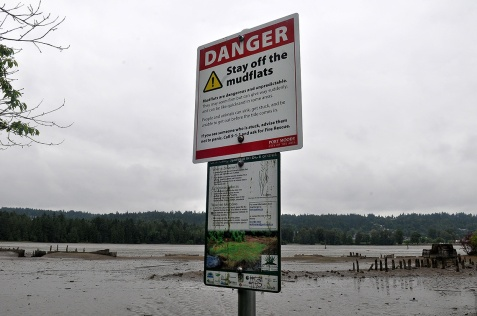 MARIO BARTEL/THE TRI-CITY NEWS Port Moody fire chief Ron Coulson says his department can expect to rescue a couple of people a year who don't heed the warning signs and get stuck in the mudflats at the eastern end of Port Moody Inlet.