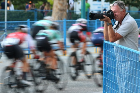 MARIO BARTEL/THE TRI-CITY NEWS The women race past a photographer along the course.
