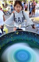 MARIO BARTEL/THE TRI-CITY NEWS Bikes can even create art.