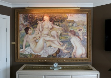 MARIO BARTEL/THE TRI-CITY NEWS When Cosimo Geracitano wakes up every mornng in his Coquitlam home, the first thing he sees is his reproduction of Auguste Renoir's The Large Bathers.
