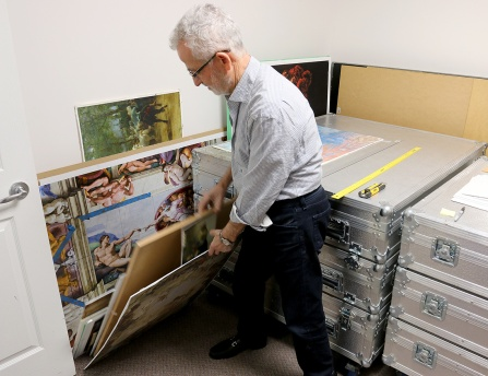 MARIO BARTEL/THE TRI-CITY NEWS Gericatano spends hundreds of hours recreating master paintings from high-res images he finds on the internet and high quality posters he keeps filed in a storage room in the basement of his Coquitlam home.