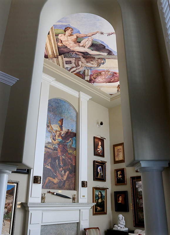 MARIO BARTEL/THE TRI-CITY NEWS The living room of Cosimo Geracitano's Coquitlam home is decorated with paintings by some of the world's greatest masters. But they're all reproductions the retired engineer painted himself.