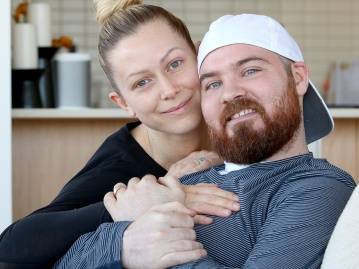 MARIO BARTEL/THE TRI-CITY NEWS Port Moody professional hockey player Wade MacLeod, and his wife, Karly, are keeping a positive outlook he'll be able to return to his career after he recovers from the third and fourth surgeries last summer to deal with a Grade 3 Glioblastoma tumour that has recurred in his brain. Wade MacLeod's story of dealing with brain cancer that truncated his professional hockey career wasn't easy to tell. But his resilience and determination are an inspiration.